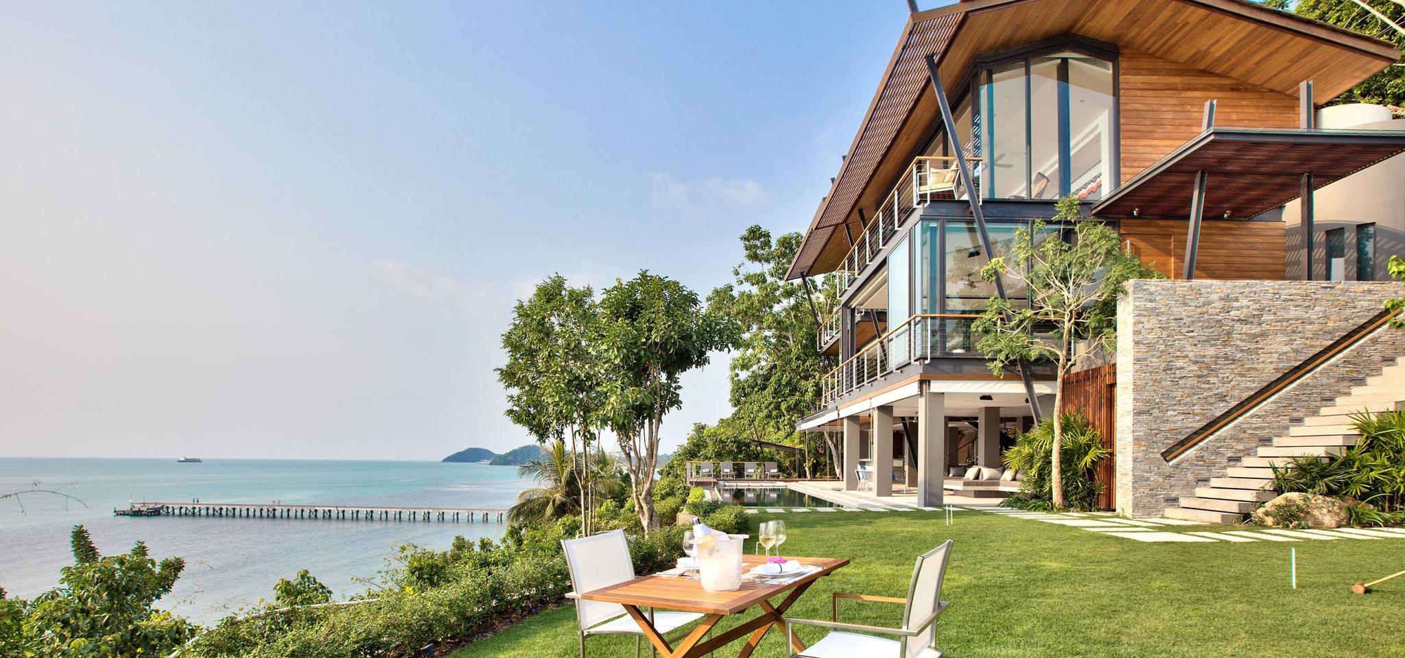 cliffside ocean view luxury villa in thailand