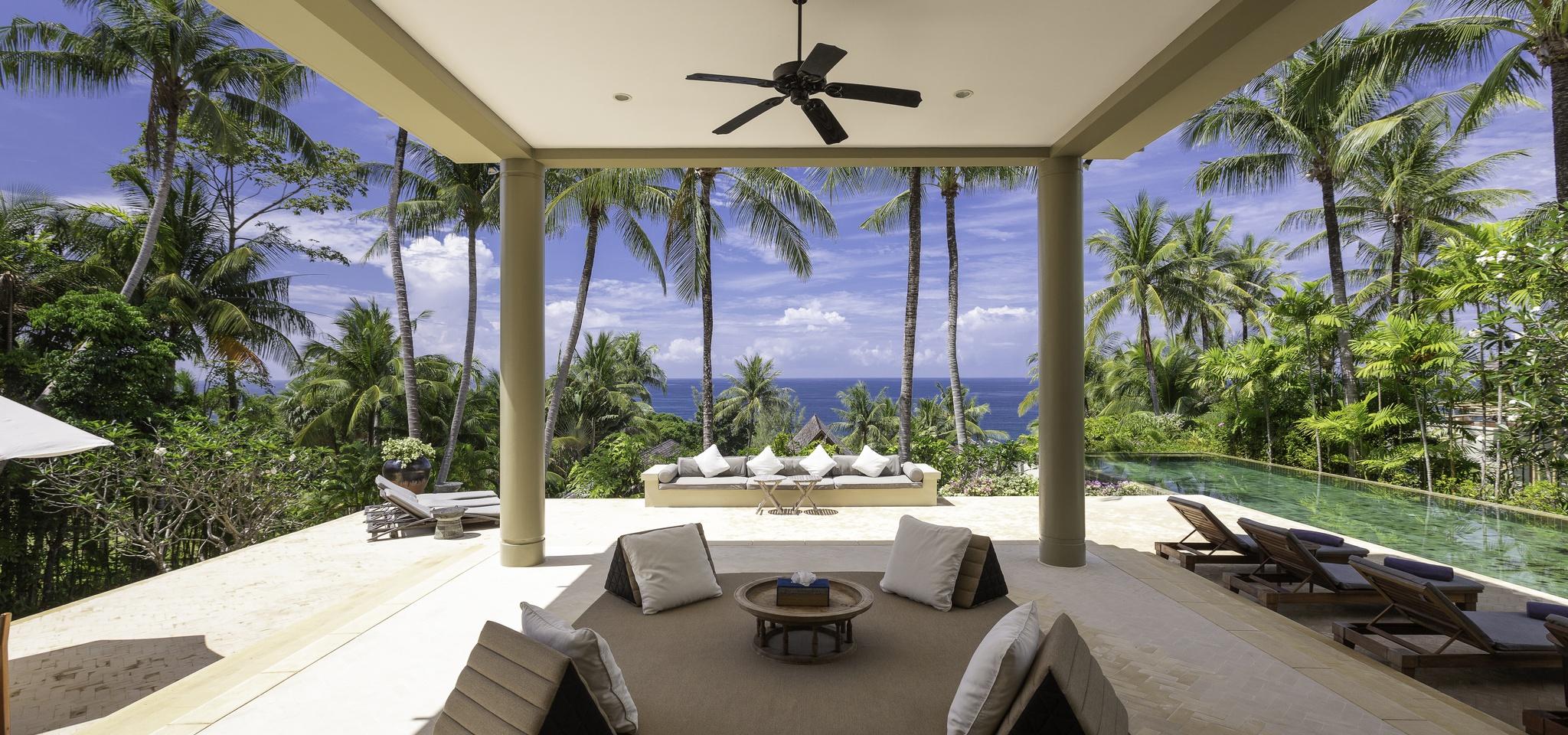 sea views in luxury villa in thailand
