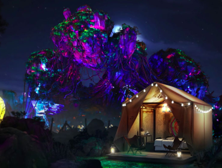 Glamping in Disney World's Pandora theme park