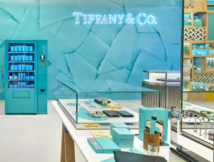 Tiffany & Co vending machine Covent Garden, London