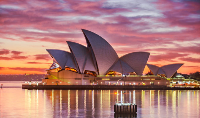 Sydney Opera House Qantas longest flight Sydney London