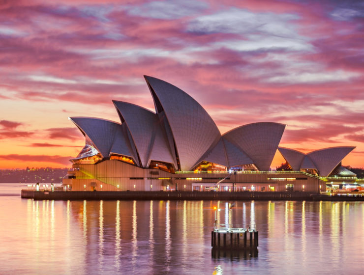 Sydney Opera House Qantas longest flight Sydney London