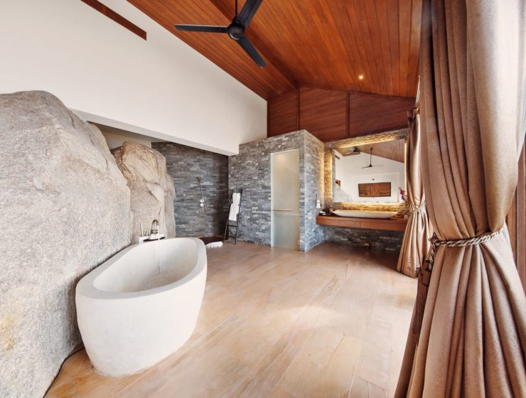 Best hotel bathtubs villa Samui