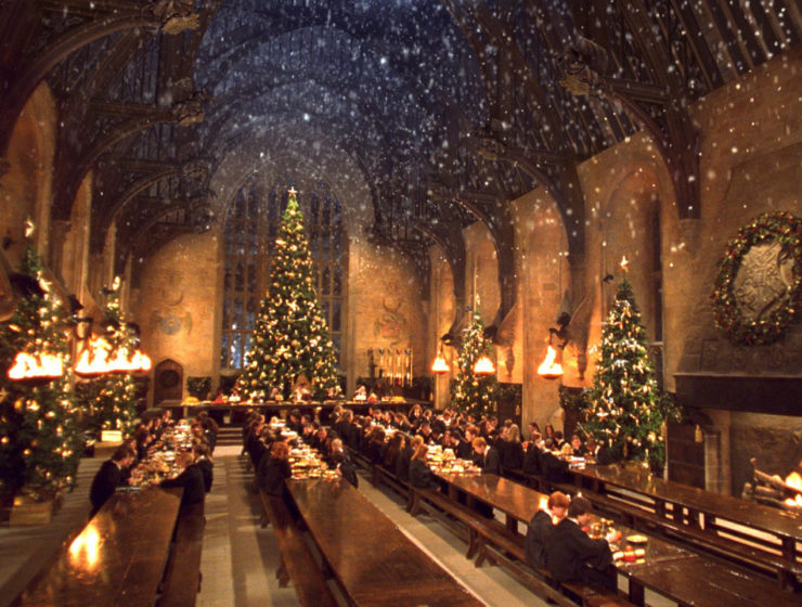 Great Hall Hogwarts dinner Warner Bros Studio Tour London