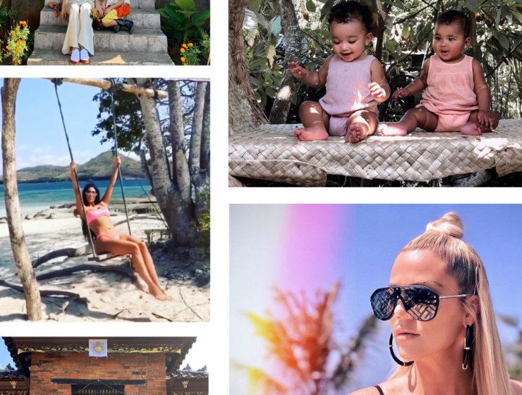 Kim Kardashian, Khloe Kardashian, Kourtney Kardashian in Bali