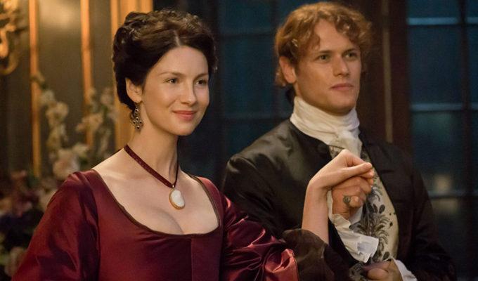 Outlander Caitriona Balfe and Sam Heughan season 4