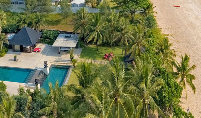 Aeriel view of Villa Saanti luxury beachfront villa in Phuket