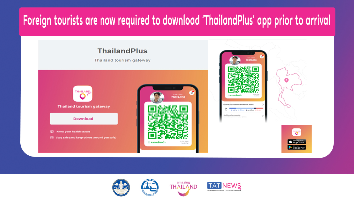 thailand plus app how to enter thailand in covid 19